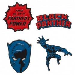 BLACK PANTHER PACK 4 BADGES...