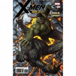 X-MEN GOLD - 21 HULK VAR LEG
