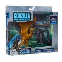 GODZILLA KING OF THE MONSTERS PACKS FIGURINES MONSTER MATCHUPS 9 CM GODZILLA & KING GHIDORAH